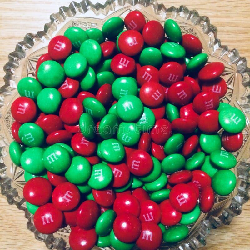 Sucrerie de Noël colorée images libres de droits