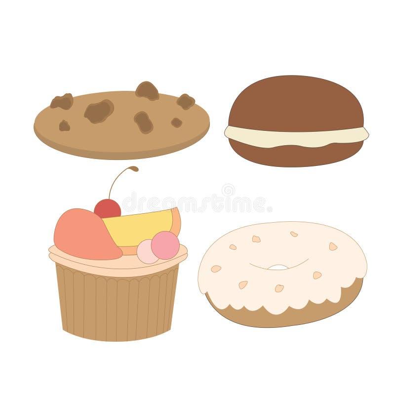 Sucrerie de nourriture de dessert de bonbons images libres de droits