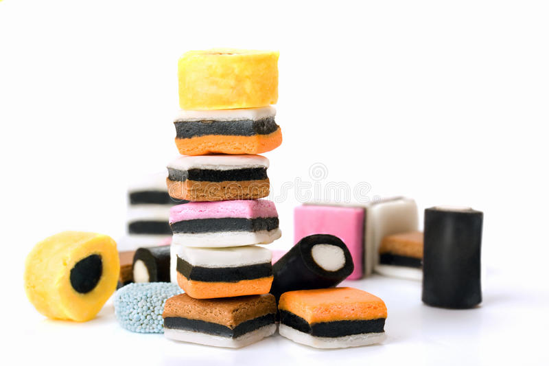 Sucrerie multicolore de réglisse photo stock