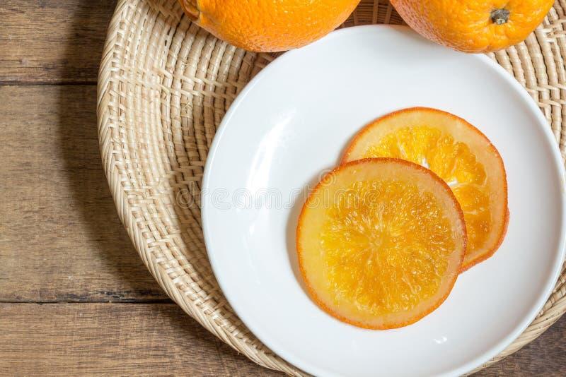 Sucrerie orange images libres de droits