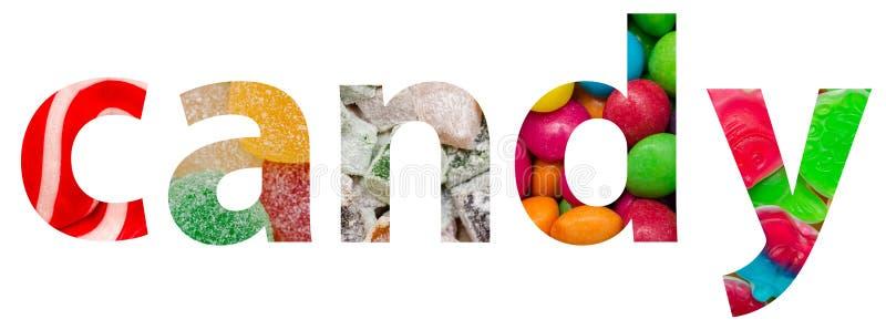 Sucrerie Word fait de bonbons délicieux colorés images libres de droits