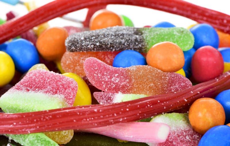 Sucreries avec différentes formes et saveurs images stock