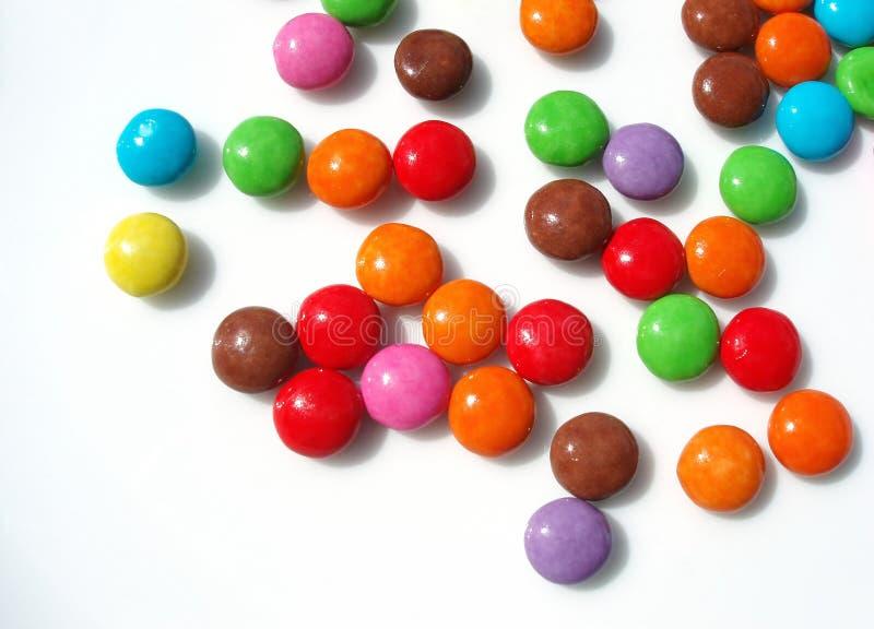 Sucreries colorées images libres de droits