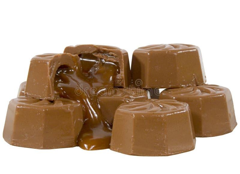 Sucreries de caramel de chocolat photo libre de droits