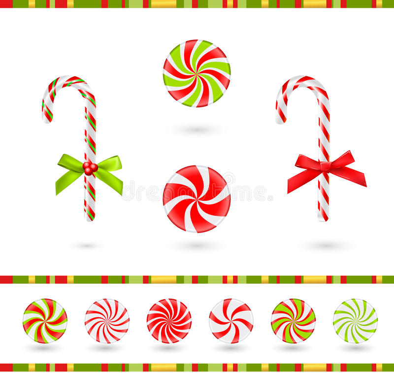 Sucreries de Noël illustration stock