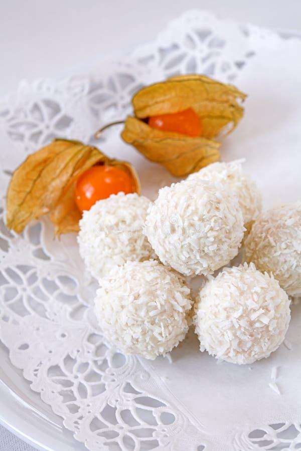 Sucreries de noix de coco photographie stock