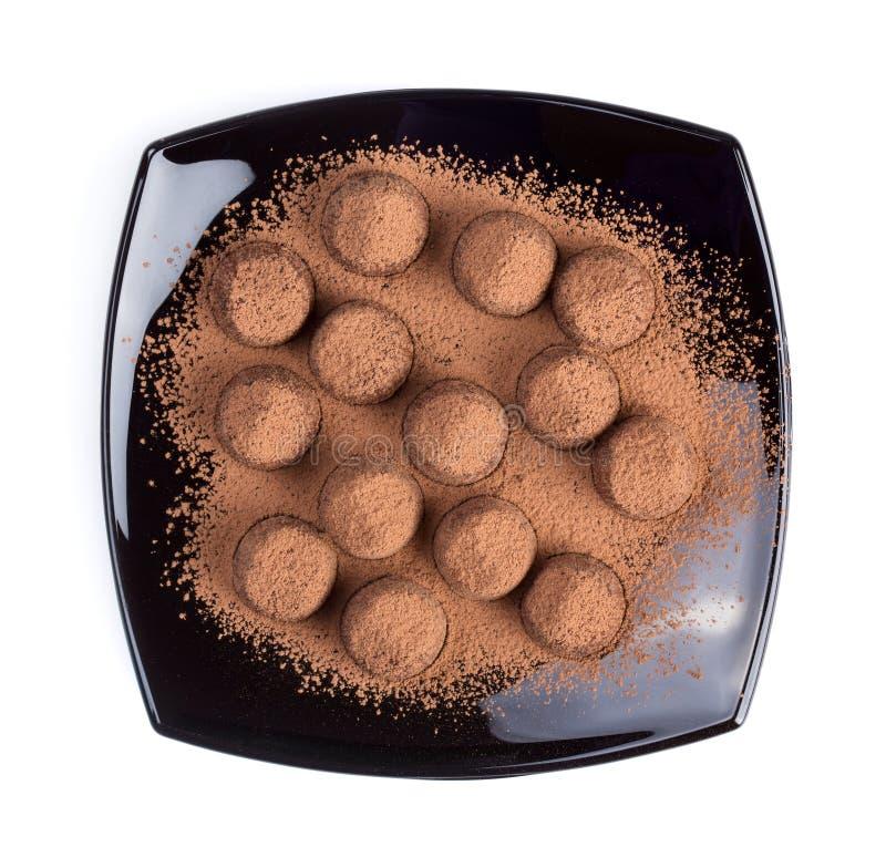 Sucreries de truffes de chocolat images libres de droits