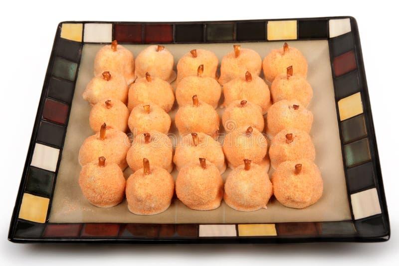 Sucreries de vacances de potiron photographie stock