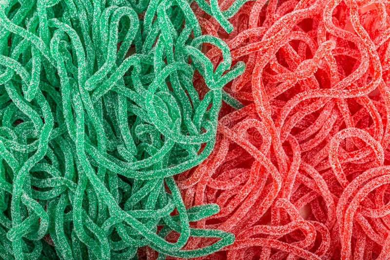 sucreries en caoutchouc sous forme de serpent photo stock