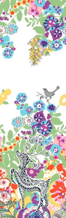 ¼ suculento sustancioso Œdeer del plantsï del ¼ Œ del succulentï del ¼ Œ del plantï y flores stock de ilustración