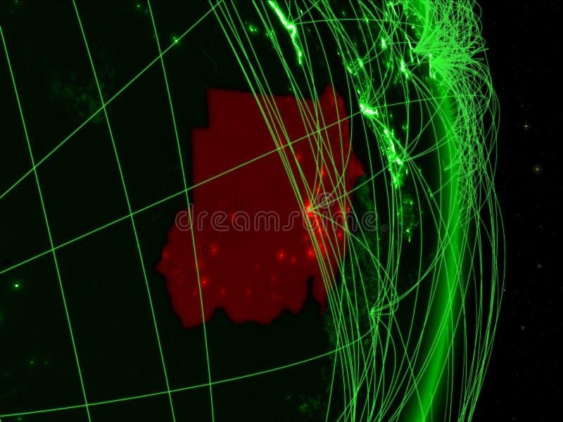 Sudán en la tierra verde ilustración del vector