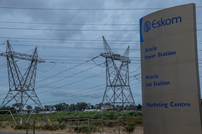 Sud-africain entreprise d'électricité à la veille de l'effondrement images stock
