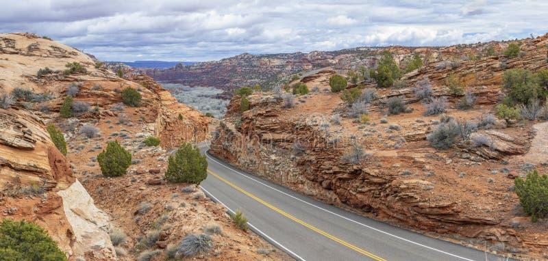 Sud-ouest américain, chemin détourné scénique 12 photo stock