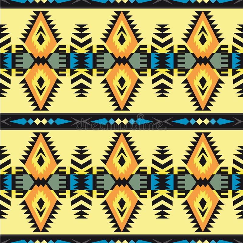 Sud-ouest indigène américain, indien, aztèque, modèle sans couture de Navajo Dessin géométrique illustration stock