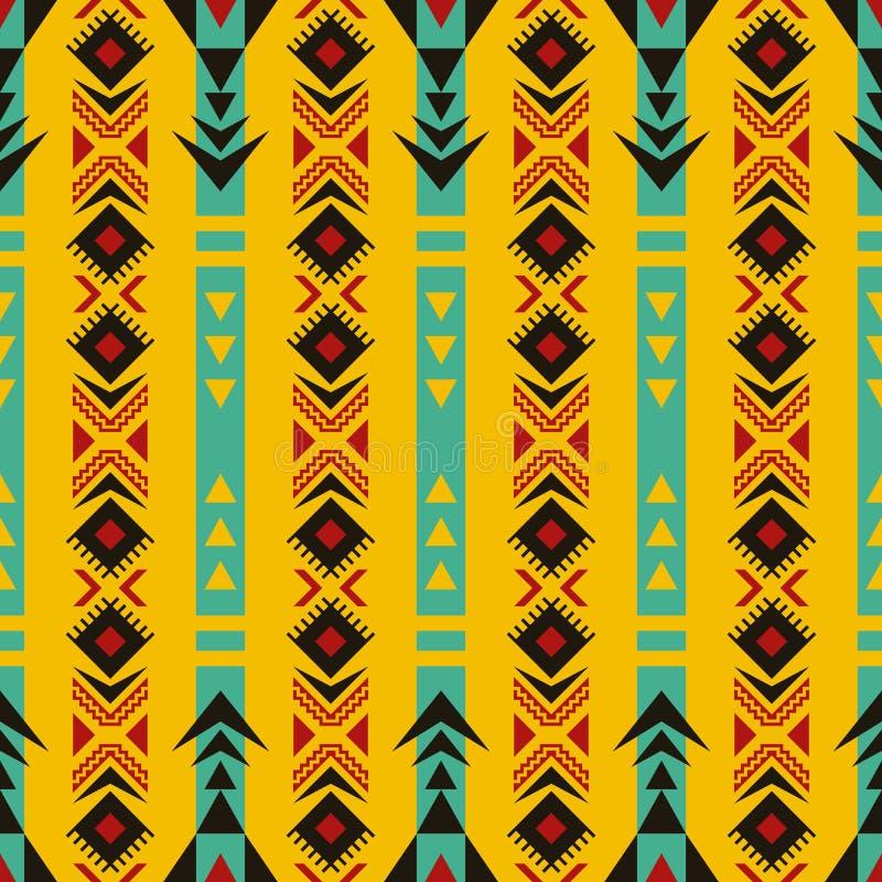 Sud-ouest indig?ne am?ricain, indien, azt?que, mod?le sans couture de Navajo illustration stock