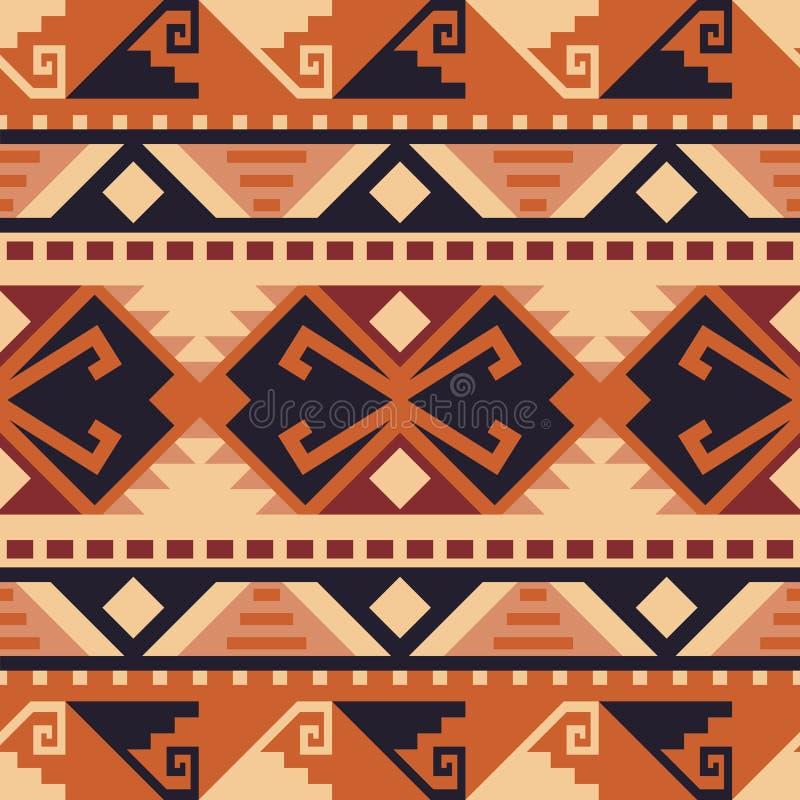 Sud-ouest indig?ne am?ricain, indien, azt?que, mod?le sans couture de Navajo illustration de vecteur