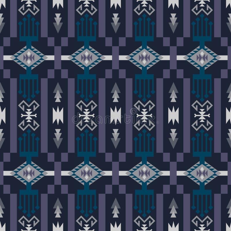 Sud-ouest indig?ne am?ricain, indien, azt?que, mod?le sans couture de Navajo Dessin g?om?trique illustration libre de droits