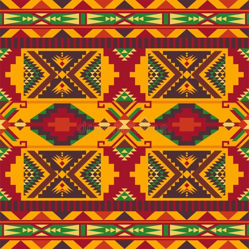 Sud-ouest indig?ne am?ricain, indien, azt?que, mod?le sans couture de Navajo Dessin g?om?trique illustration de vecteur
