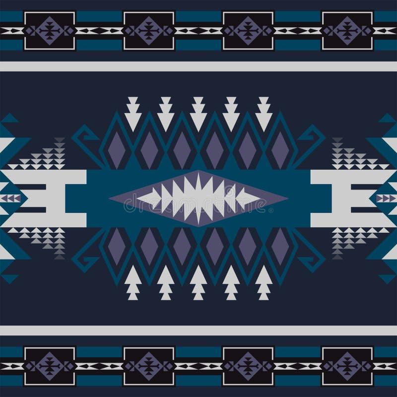 Sud-ouest indig?ne am?ricain, indien, azt?que, mod?le sans couture de Navajo Dessin g?om?trique illustration stock