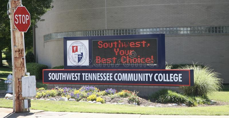 Sud-ovest Tennessee Community College Marquee fotografie stock