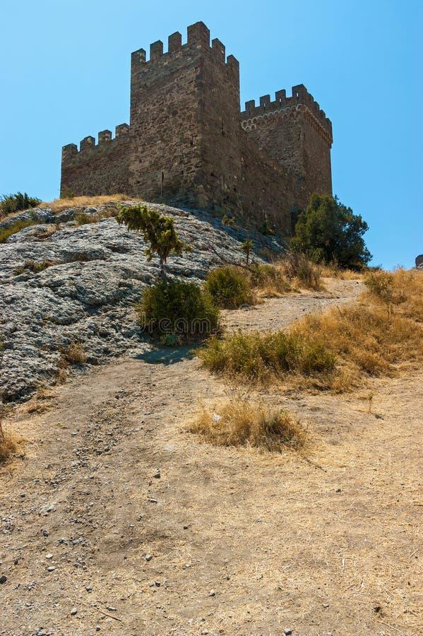 Sudak fästning royaltyfri bild