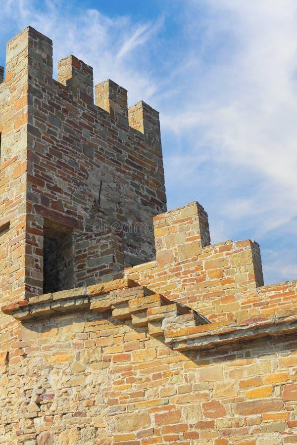 Sudak fästningtorn royaltyfri foto