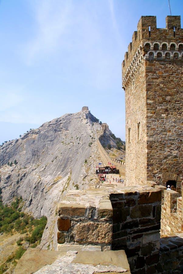Download Sudak fortress in Crimea stock photo. Image of cliff, crimea - 8261672