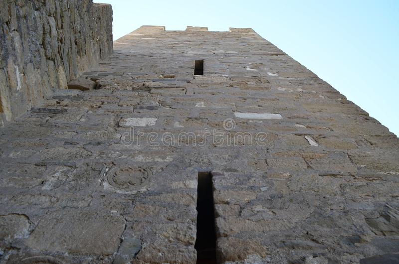 Sudak fortress in summer royalty free stock image