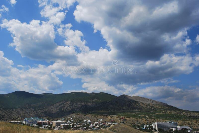 Sudak stad i Krim, Ukraina fotografering för bildbyråer