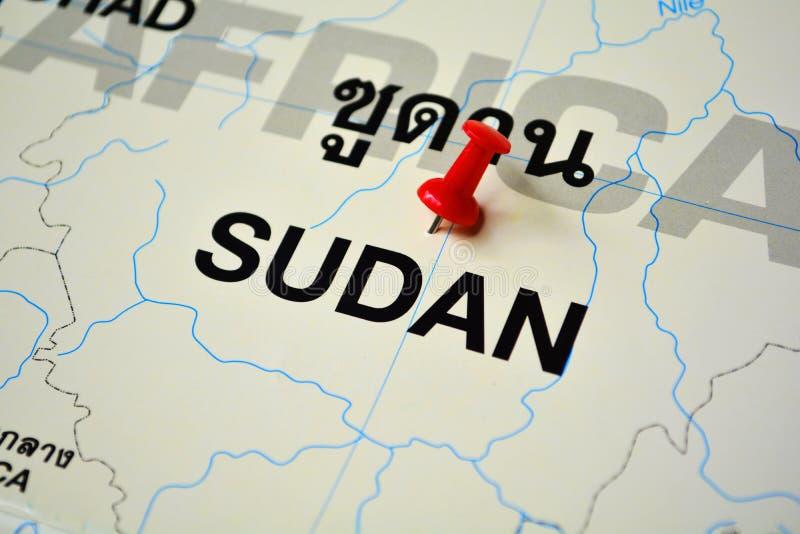 Sudan översikt arkivbild