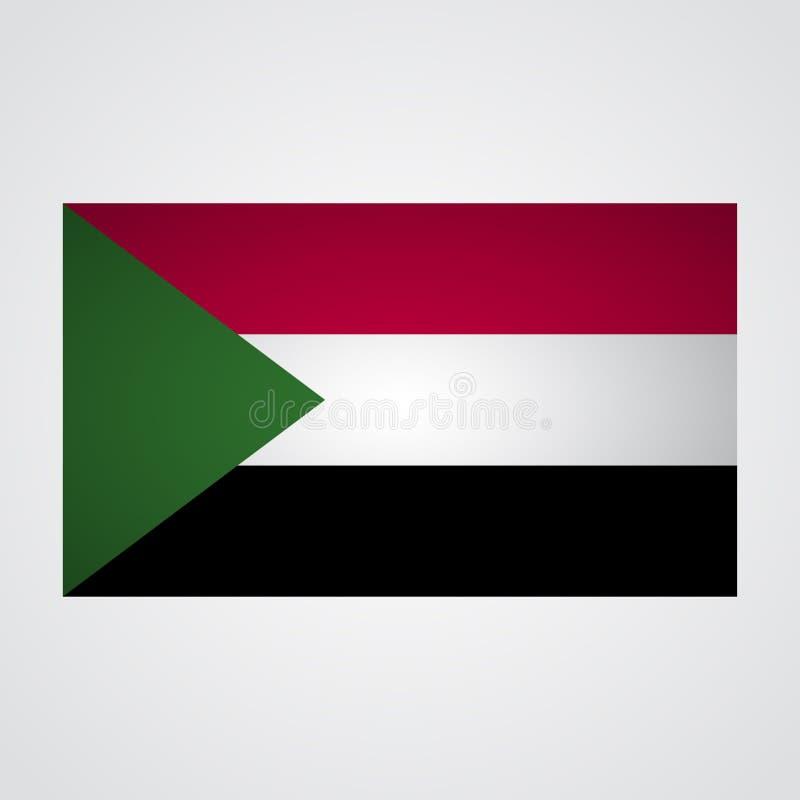 Sudan flaga na szarym tle również zwrócić corel ilustracji wektora royalty ilustracja