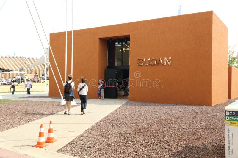Sudan paviljong Milan, milano expo 2015 royaltyfria foton