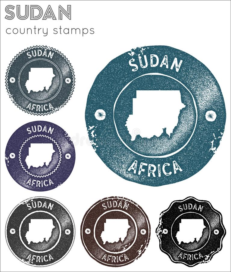 Sudan stamps collection. stock image
