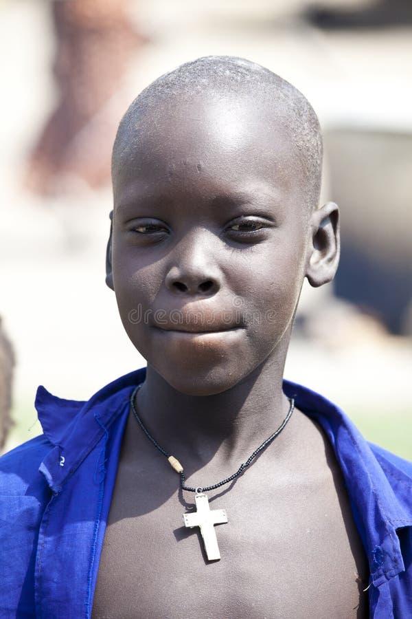 Sudanischer christlicher Südjunge lizenzfreies stockfoto