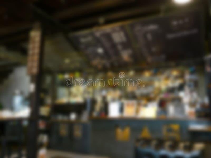 Suddig bakgrund av restaurangen royaltyfria bilder
