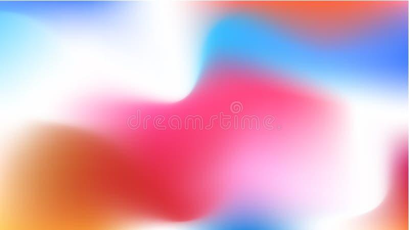 Suddig bakgrund för vektor, för telefonskärm Röd och blå lutningrengöringsdukmodell för tapet, horisontal och ljust Vit mjuk wa vektor illustrationer