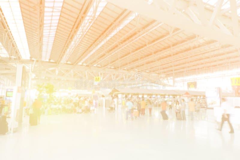 Suddig bakgrund på flygplatsen arkivbild