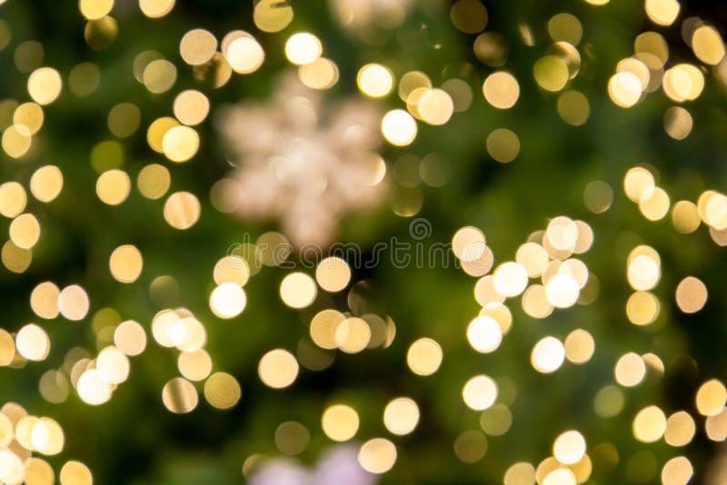 Suddig bokehljusbakgrund, jul och det nya ?ret semestrar bakgrund royaltyfria foton