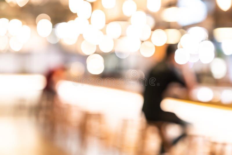 Suddig defocused stång för abstrakt begrepp, nattklubb eller kafébakgrund arkivfoton