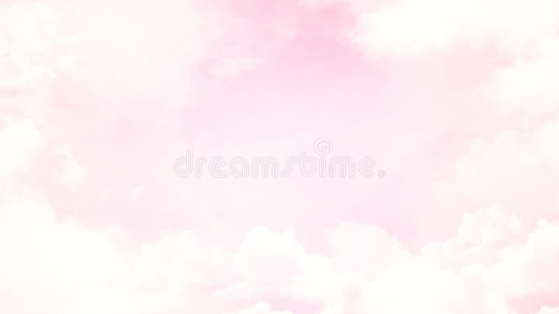 Suddig härlig mjuk molnbakgrund för abstrakt begrepp med en pastellfärgad mångfärgad lutning med bokeh stock illustrationer