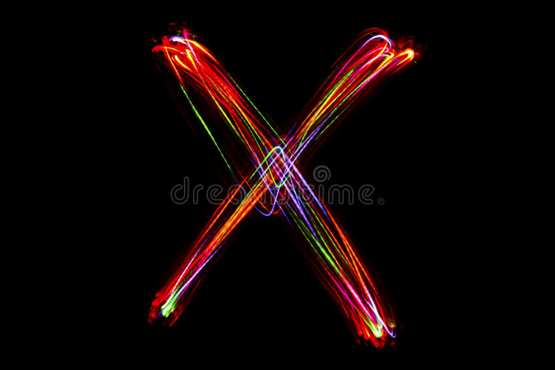 Suddig handstil för ` för ord` X från ljus royaltyfri bild
