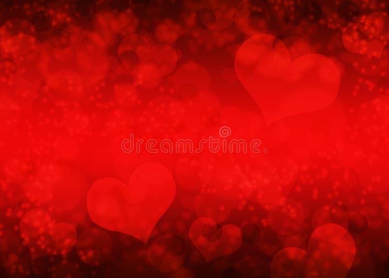 Suddig hjärtabokehbakgrund/textur arkivbild