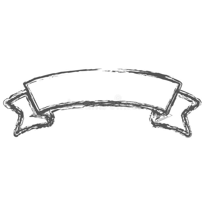 Suddig kontur av etikettgränsgradbeteckningen vektor illustrationer