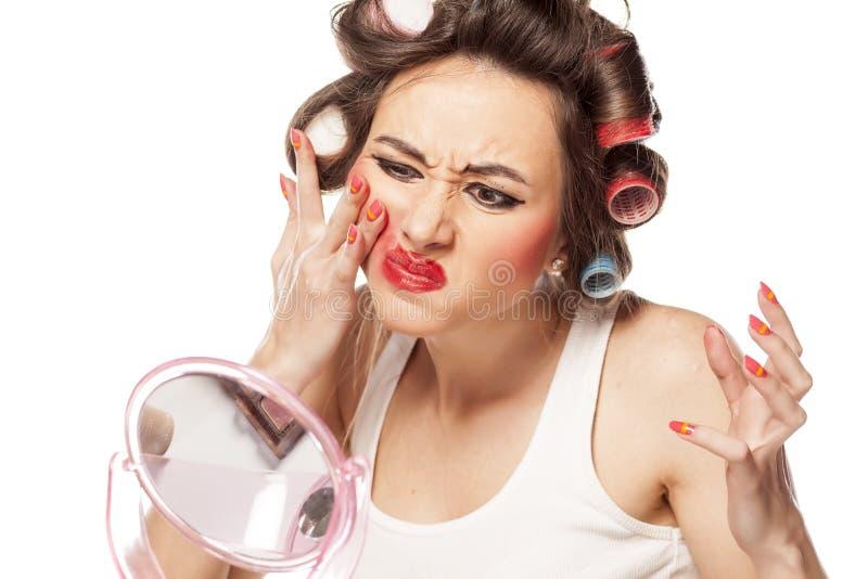 Suddig makeup royaltyfria foton