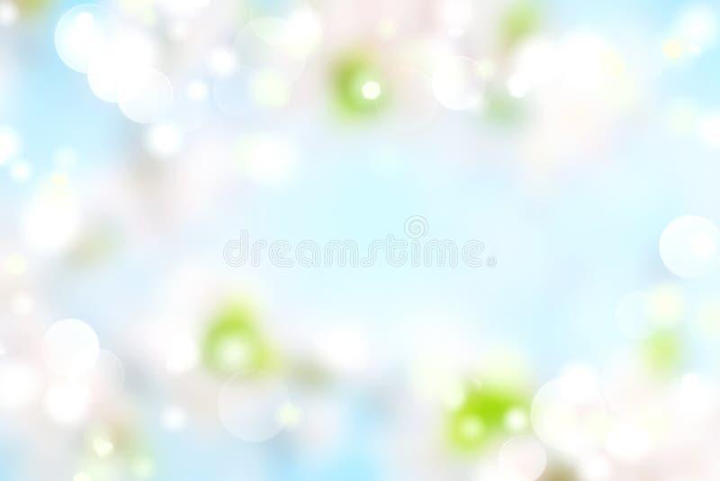 Suddig naturlig bakgrund för vårblått P?skbakgrund slapp textur royaltyfri illustrationer