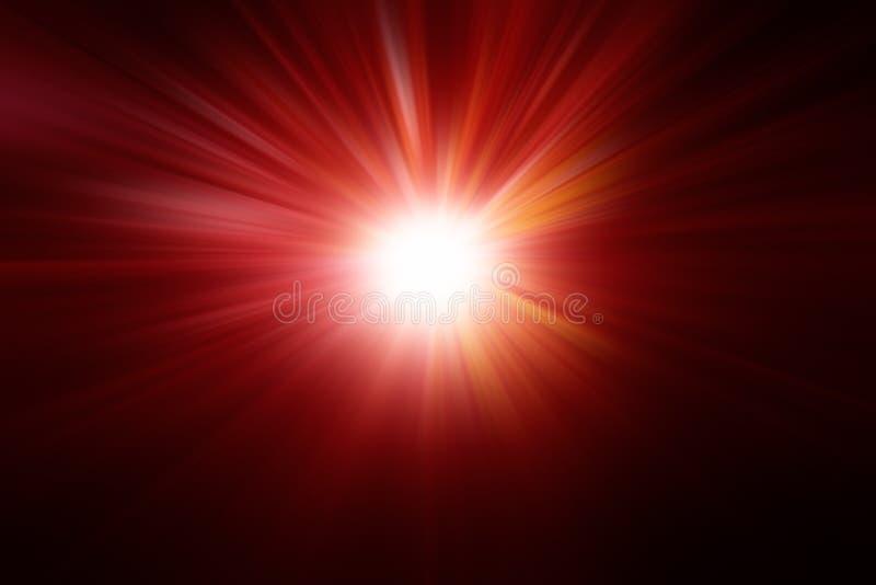Suddig sammansättning med radiella ljusa strålar exponerar ligh arkivfoto