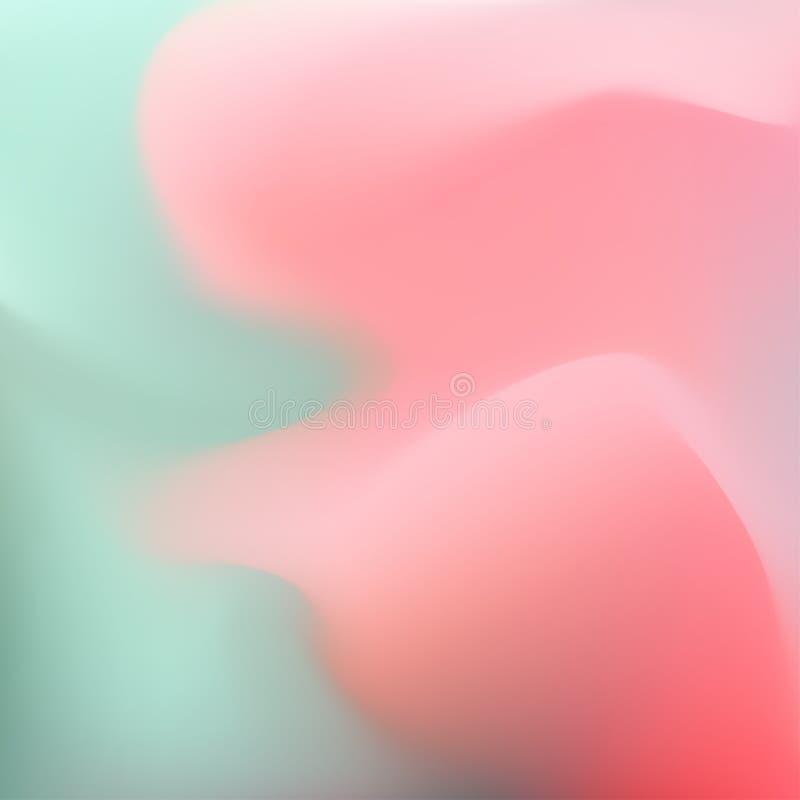Suddig vågbakgrund för vektor royaltyfri illustrationer