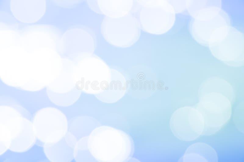 Suddiga blåa abstrakta bakgrunder med bokeh royaltyfri fotografi
