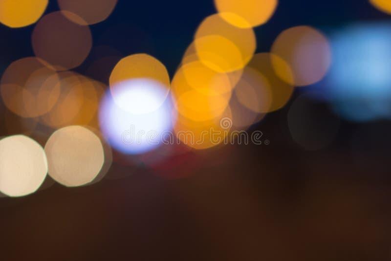 Suddiga ljus med bokeh verkställer bakgrund, abstrakt suddighet royaltyfri bild