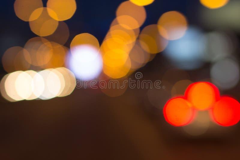 Suddiga ljus med bokeh verkställer bakgrund, abstrakt suddighet arkivbild